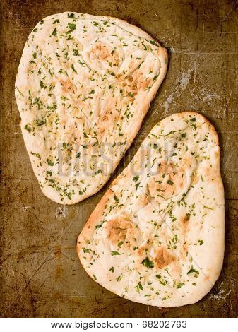 Rustic Indian Garlic And Parsley Naan Bread