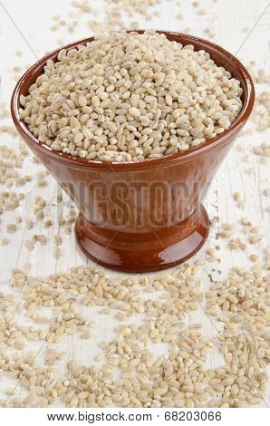 Hulled Pearl Barley In A Bowl