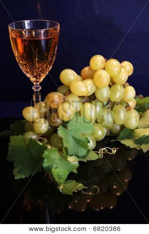 White Wine And Grapes