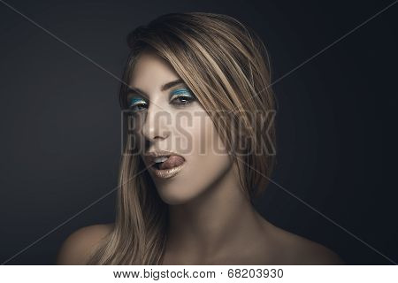 Beauty Portrait Of Sexy Blonde Woman