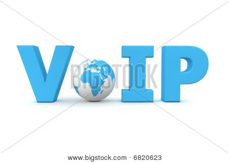 Voip World Blue - Small Globe