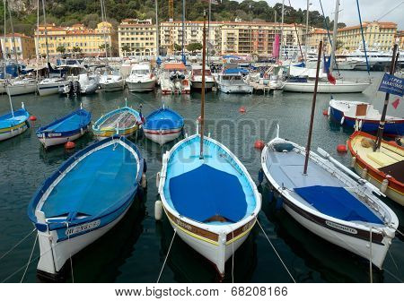 City Of Nice - Colorful Boats In The Port De Nice