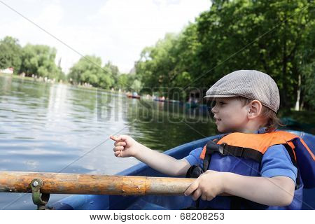 Child With An Oar