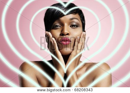 Black Woman In Love