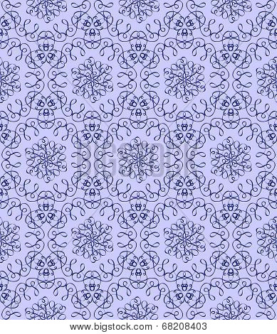 Dark Bllue  Pattern On A Light Blue Background