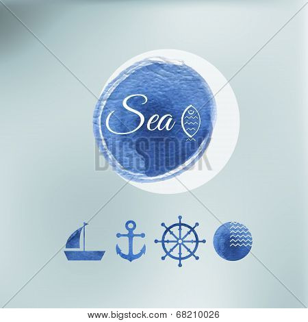 Water Color Sea Elements Of Design.