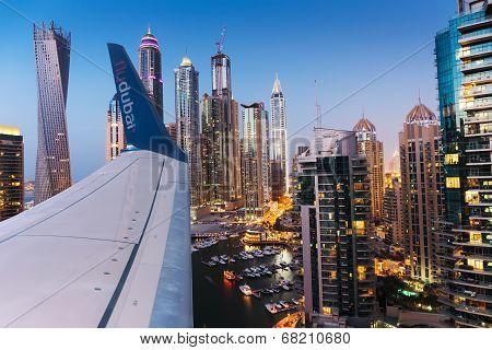 Dubai Marina At Dusk From The Top
