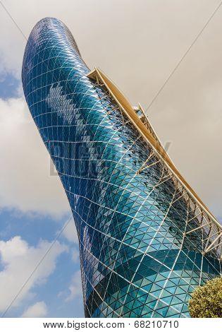 Capital Gate Tower In Abu Dhabi Uae
