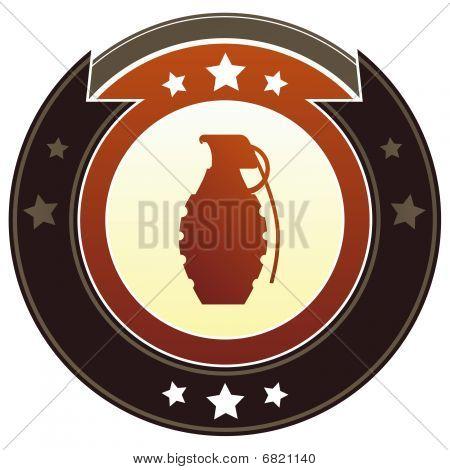 Hand grenade or explosive icon