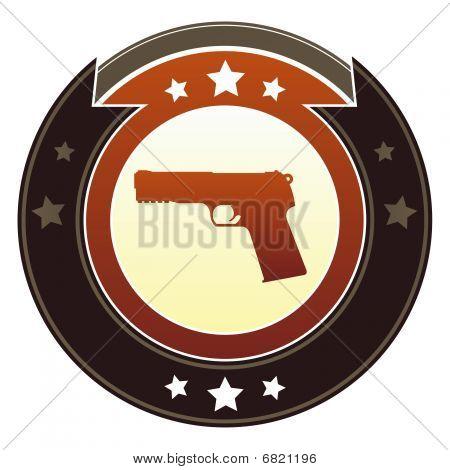 Icono de arma de fuego o crimen