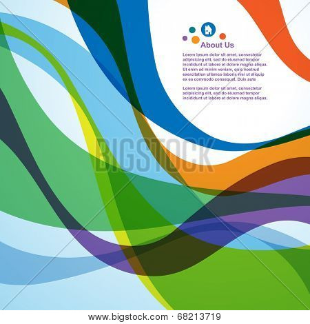 Abstract colorful wave background, vector