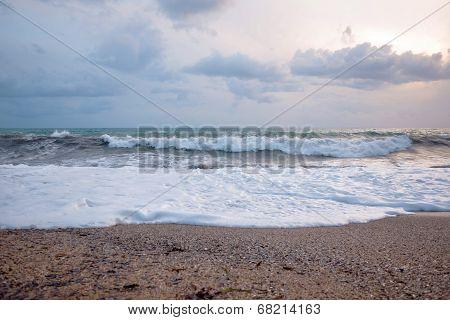 Big Waves On The Beach