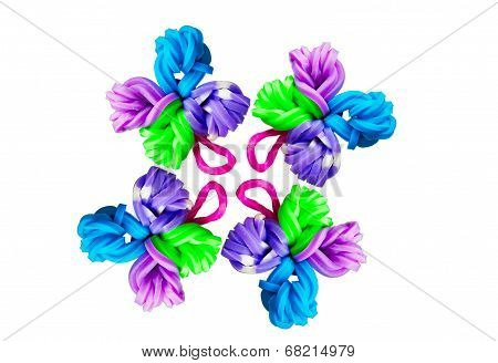 Colorful Creations With Rubber Bands On Rainbow Loom