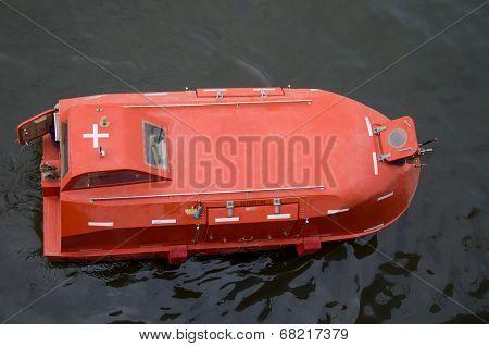 Lifeboat at sea