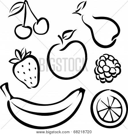 Set Of Vector Fruit Icon