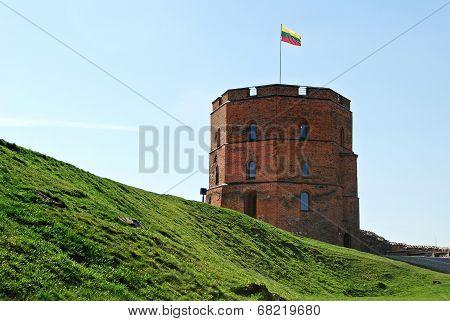 Gediminas Castle In Vilnius City. Lithuania