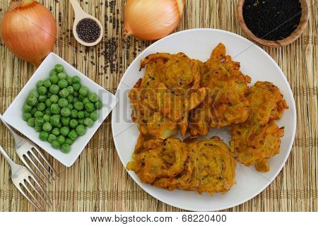 Vegetarian pakoras