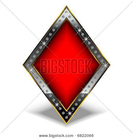 Diamond with diamonds