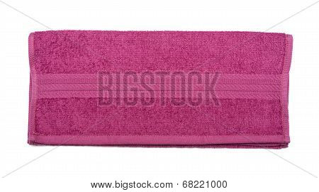Folded Terry Towel Isolated Over The White Background