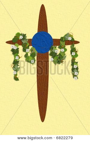 Nature Style Easter Cross
