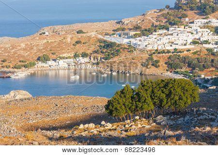 Panorama Of Lindos. Rhodes, Greece.