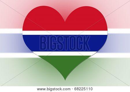 Gambia Flag Heart