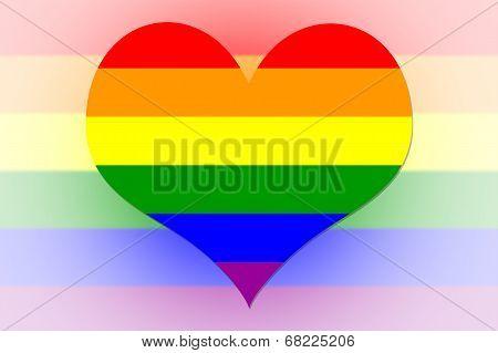 Rainbow Flag Heart