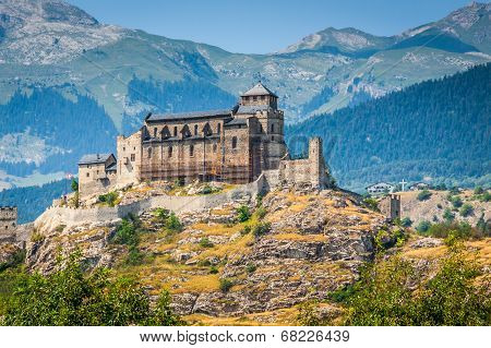 Valere Basilica And Tourbillon Castle, Sion, Switzerland