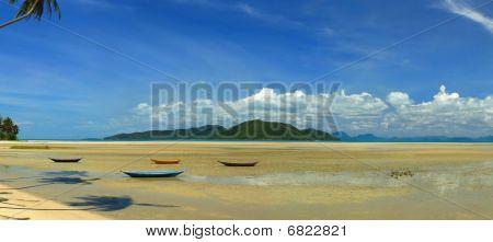 Постер, плакат: Побережье острова Кох Самуи, холст на подрамнике
