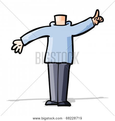 cartoon body with raised hand  (mix and match cartoons or add own photos)