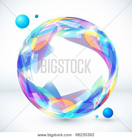 Abstract colorful sphere, vector image