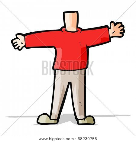 cartoon male body (mix and match cartoons or add own photo head)