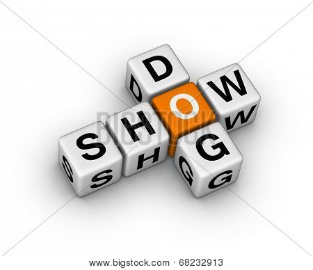 dog show sign (orange-white crossword puzzles series)