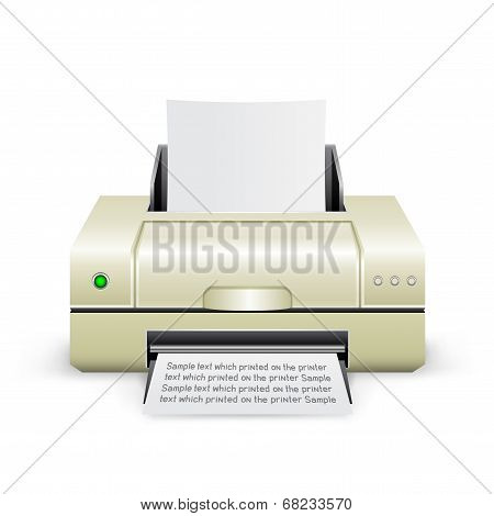 white printer icon