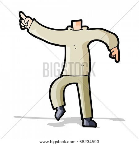 cartoon pointing body (mix and match cartoons or add own photo)