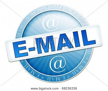 An image of a useful blue e-mail button