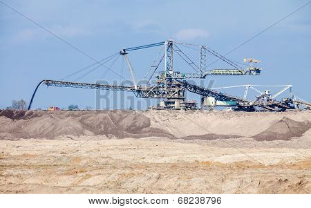 Opencast Brown Coal Mine. Giant Excavator.