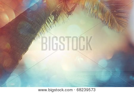 Serenity beach background