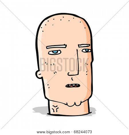 cartoon bald tough guy