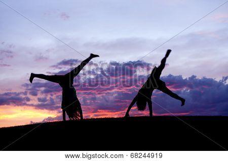 Kids Doing Cartwheels.