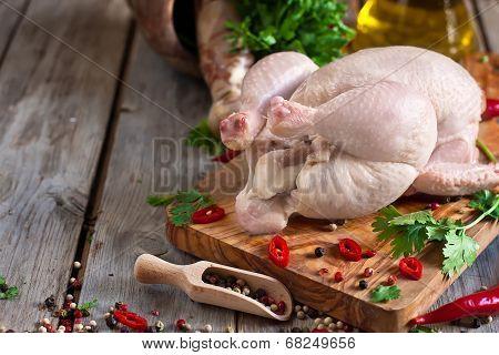 Raw Chicken Background