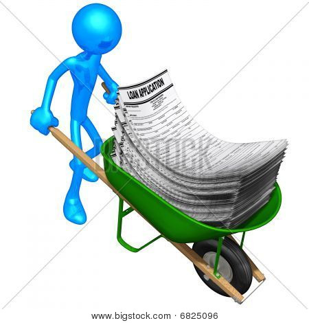 Wheelbarrow Full Of Loan Applications
