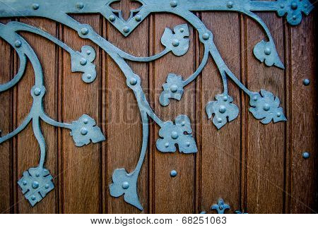 Old Ornate Church Door Hinge