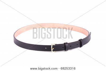 Rolled up black female belt.