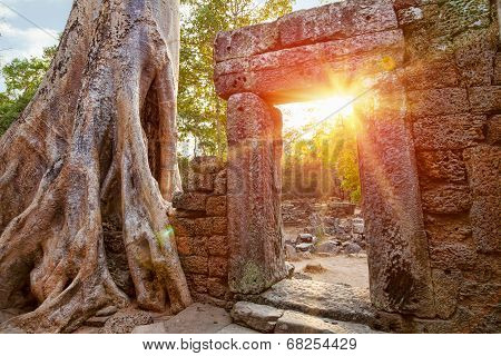 Ruins Of Cambodian Temple