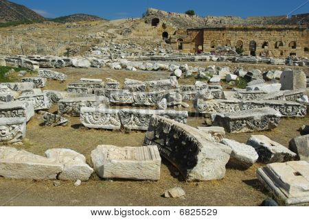 Ruins And Remains Of The Ancient City Of Hierapolis