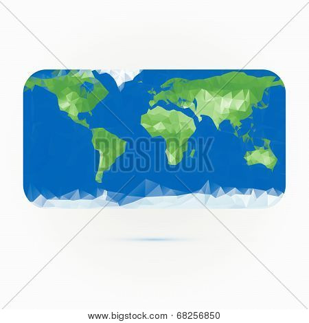 Earth Map Made With Triangles