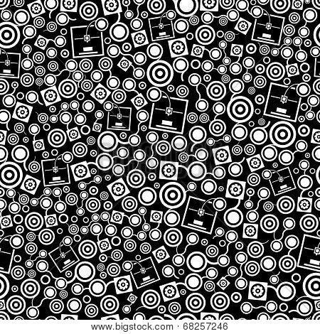 3D Printer Dark Seamless Pattern