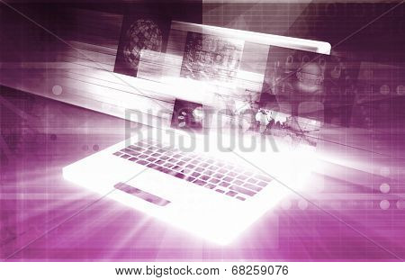 E-Commerce Solutions with Online Notebook Shopping Art