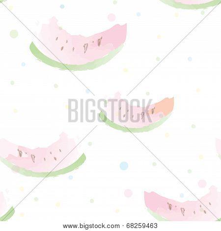 Watermelon seamless pattern artistic watercolor style